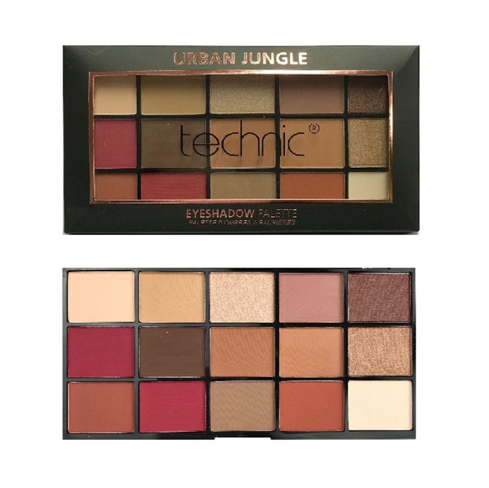Technic 15 Eyeshadows Palette # Urban Jungle