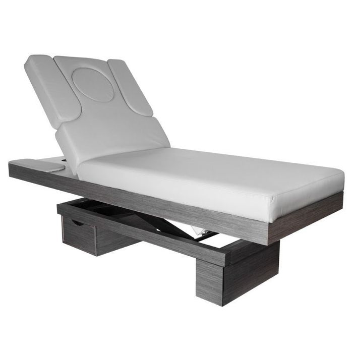 Azzurro Heated Spa Cosmetic Bed Wood 815B Glow Grey
