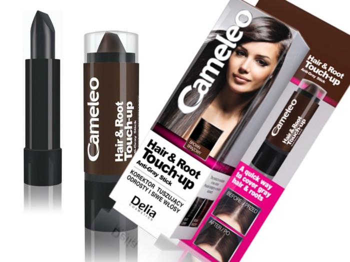 Delia Cameleo Concealer To Cover Rootw And Gray Hair # Brown