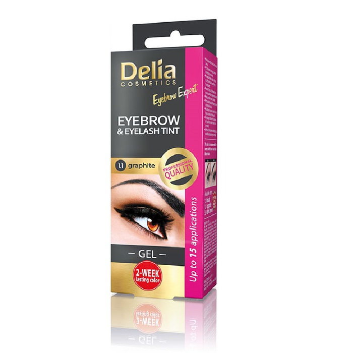 Delia Eyebrow & Eyelash Gel Tint # 1.1 Graphite 2x15ml