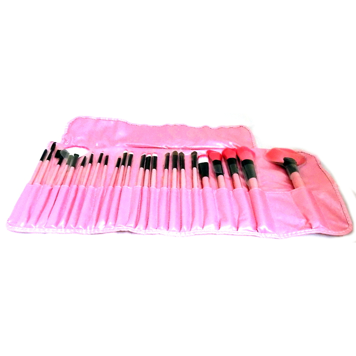 London Pride Make-Up Brush Set 24 Brushes # Pink