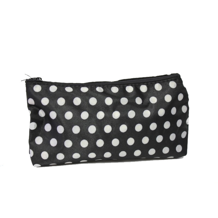 A2S Cosmetic Bag Black White Dots