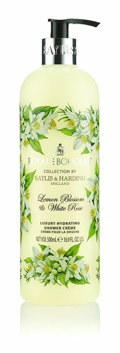 Baylis & Harding Royale Bouquet Lemon Blossom and White Rose Shower Creme 500ml