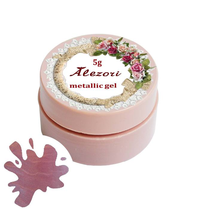 Alezori Colour Gel Metallic M54 LIGHT PINK 5gr