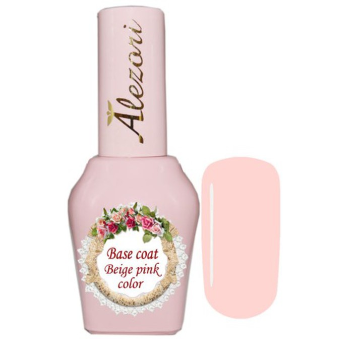 Alezori Base Coat Color Beige Pink 15ml