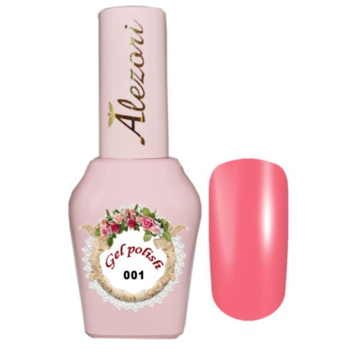 Alezori Gel Polish №001 15ml ΚΟΡΑΛΙ ΡΟΖ