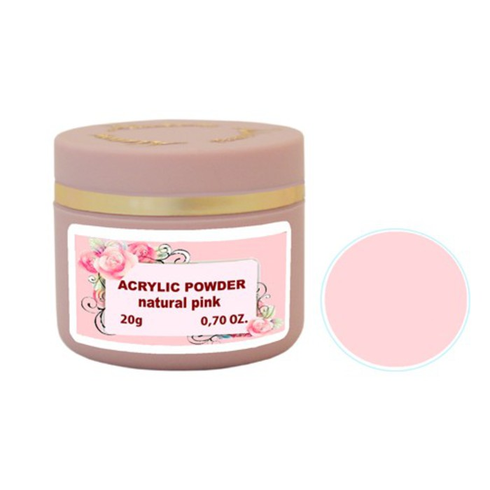 Alezori Acrylic Powder NATURAL PINK 20gr