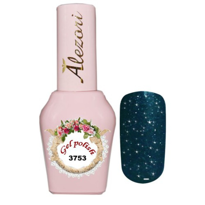 Alezori Gel Polish №3753 15ml  BLUE BLACK ΨΙΛΟ GLITTER