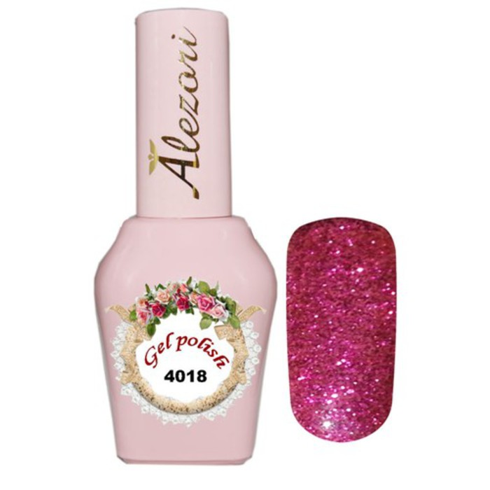 Alezori Gel Polish №4018 15ml MAGENDA GLITTER