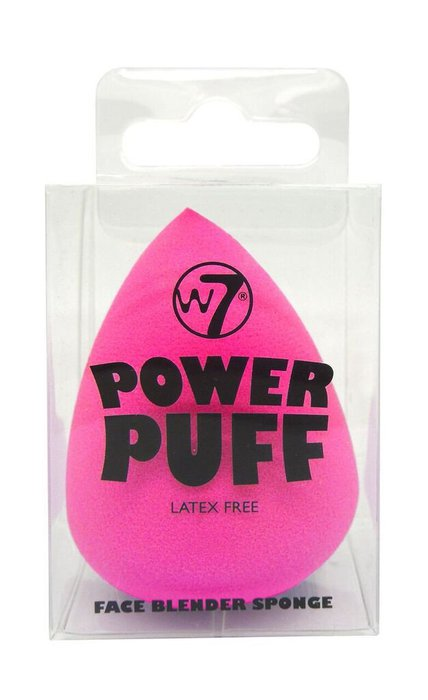 W7 Power Puff Face Blender Sponge # Hot Pink