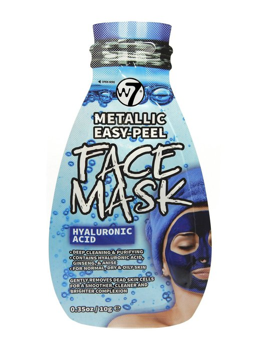 W7 Metallic Easy-Peel Hyaluronic Acid Face Mask