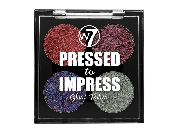 W7 Pressed to Impress Glitter Palette # All The Rage