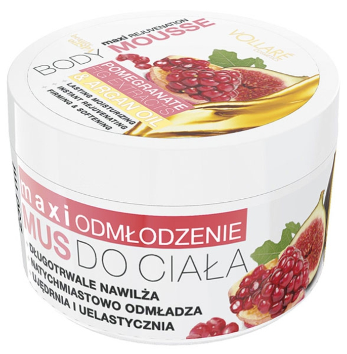 Vollare Sugar Body Mousse With Pomegranate & Fig Extract And Argan Oil