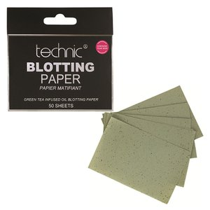 Technic Green Tea Infused Oil Blotting Paper 50 Sheets