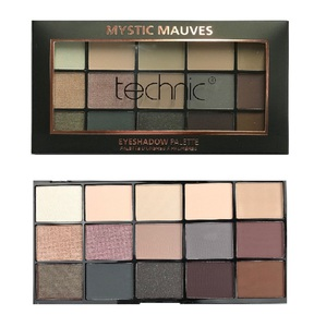 Technic 15 Eyeshadows Palette # Mystic Mauves