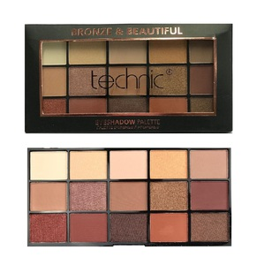 Technic 15 Eyeshadows Palette # Bronze & Beautiful
