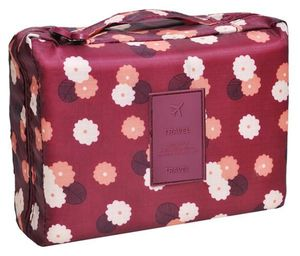 Makeupstores Cosmetic Bag 2in1 # Bordeaux Red
