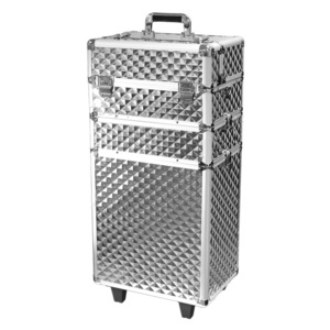 Makeupstores Trolley Cosmetic Case Professional 3D Silver