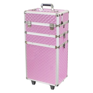 Makeupstores Trolley Cosmetic Case Professional 3D Pink