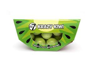 W7 Fruity Fizzy Bath Bombs # Krazy Kiwi