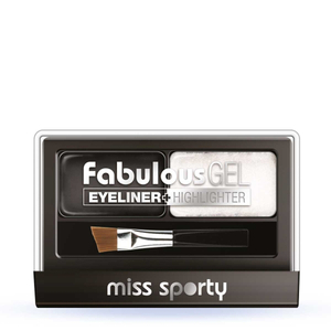 Miss Sporty Fabulous Gel Eyeliner + Highlighter Black & White 2x1,5gr