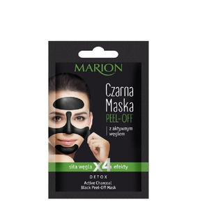 Marion Black Peel-Off Mask With Active Charcoal 6g
