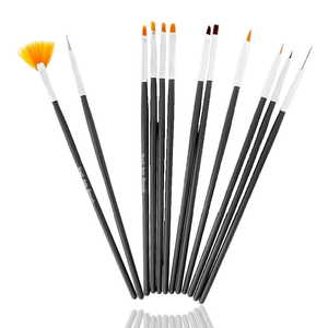 UpLac Brush Set 12 pcs Black