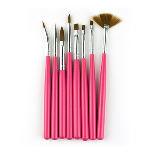 UpLac Brush Set 8 pcs # Pink