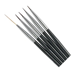 UpLac Nail Art Brushes Set 5 pcs Black