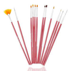UpLac Brush Set 12 pcs Pink