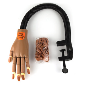 UpLac Practice Nail Trainer Hand - Moveable Fingers - Flexible Arm