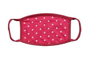 UpLac Multiple Washable Face Cotton Mask Coral Polka Dots