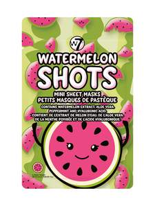 W7 Watermelon Shots Mini Sheet Masks 12gr