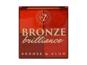 W7 Bronze Brilliance Bronze & Glow Palette # Medium/Dark 14gr